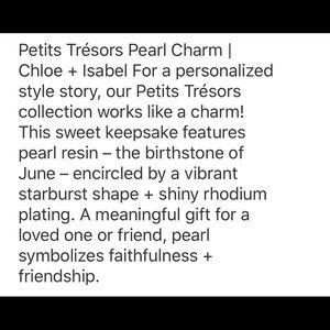 Chloe + Isabel Jewelry - Petits Tresors Pearl Charm